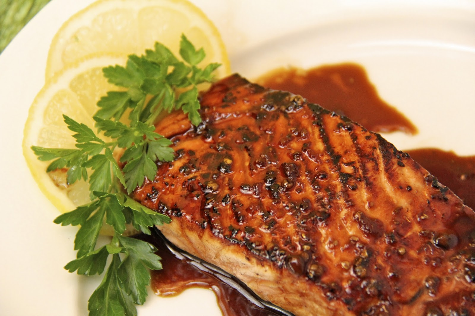 Honey, Ginger & Coriander Glazed Salmon - this salmon is sensational ...