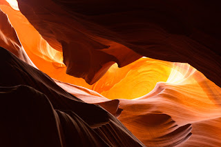 Detail photograph inside Upper Antelope Canyon.