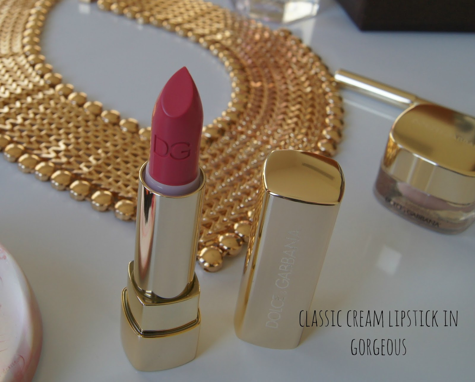 Dolce and Gabbana classic cream lipstick in Gorgeous
