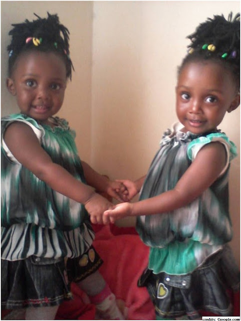 chelele's twin daughters