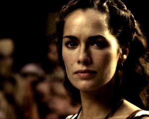 Lena headey caracterizada como reina espartana - Juego de Tronos en los siete reinos