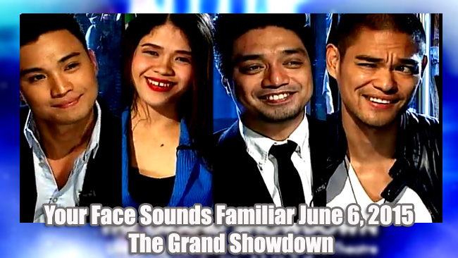 Your Face Sounds Familiar June 6, 2015 The Grand Showdown in Resorts World Manila