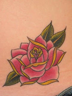 Hip Rose Tattoo design Photo Gallery - Hip Rose Tattoo Ideas
