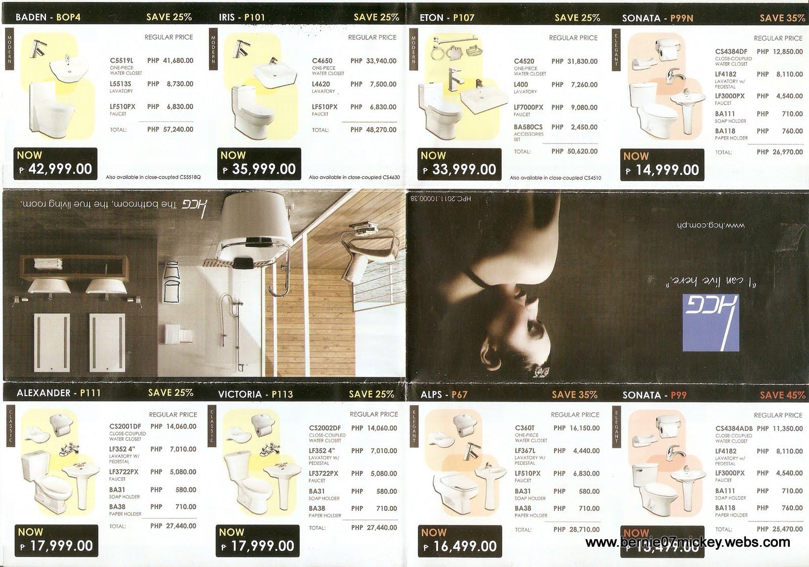 F1 Digital Scrapaholic: Helpful Brochures of House Fixtures