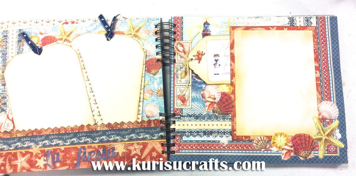 Taller álbum de scrapbooking personalizado en Kurisu Crafts