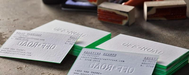 Tarjetas de visita hechas a mano