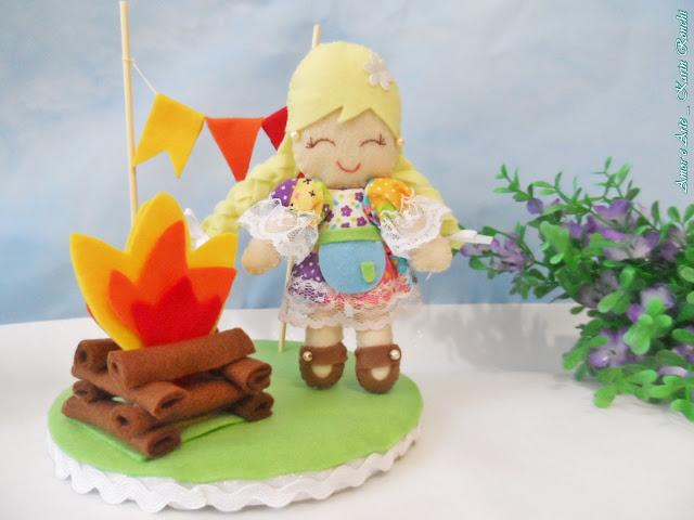 Topo de bolo para festa junina/julina