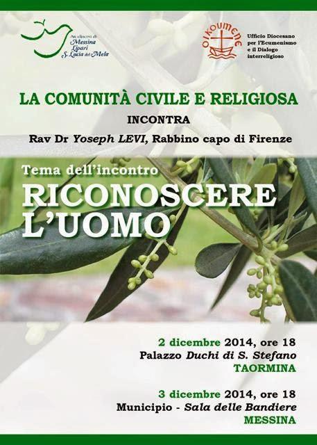 RICONOSCERE L'UOMO: INCONTRO CON IL RABBINO YOSEPH LEVI
