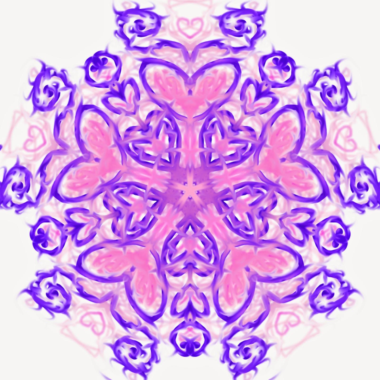 Heart Mandala Digital Art