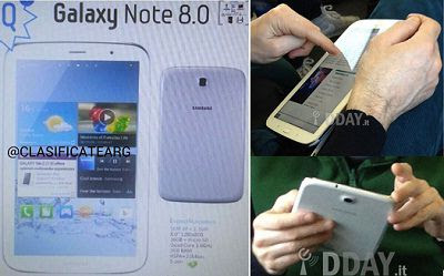Galaxy Note 8.0: Specifications leaked in a picture