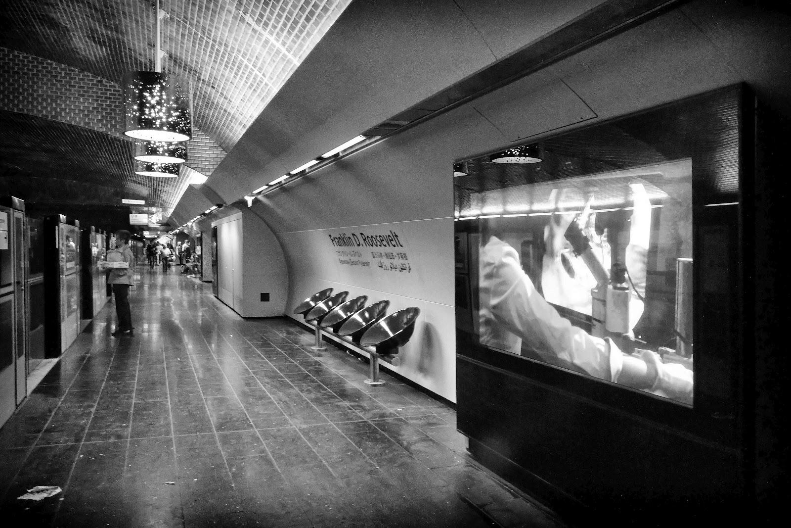 Paris fvdv de metro van abbesses tot wagram