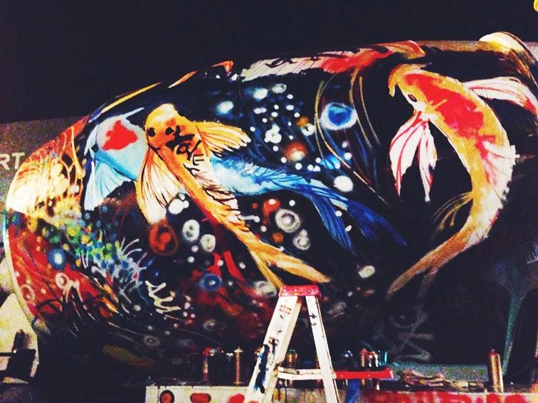 Phil Fung truck mural street art Miami Art Basel 2013