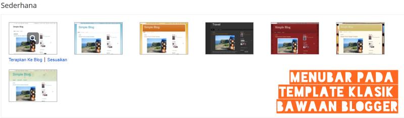 cara membuat menubar di template bawaan blogger