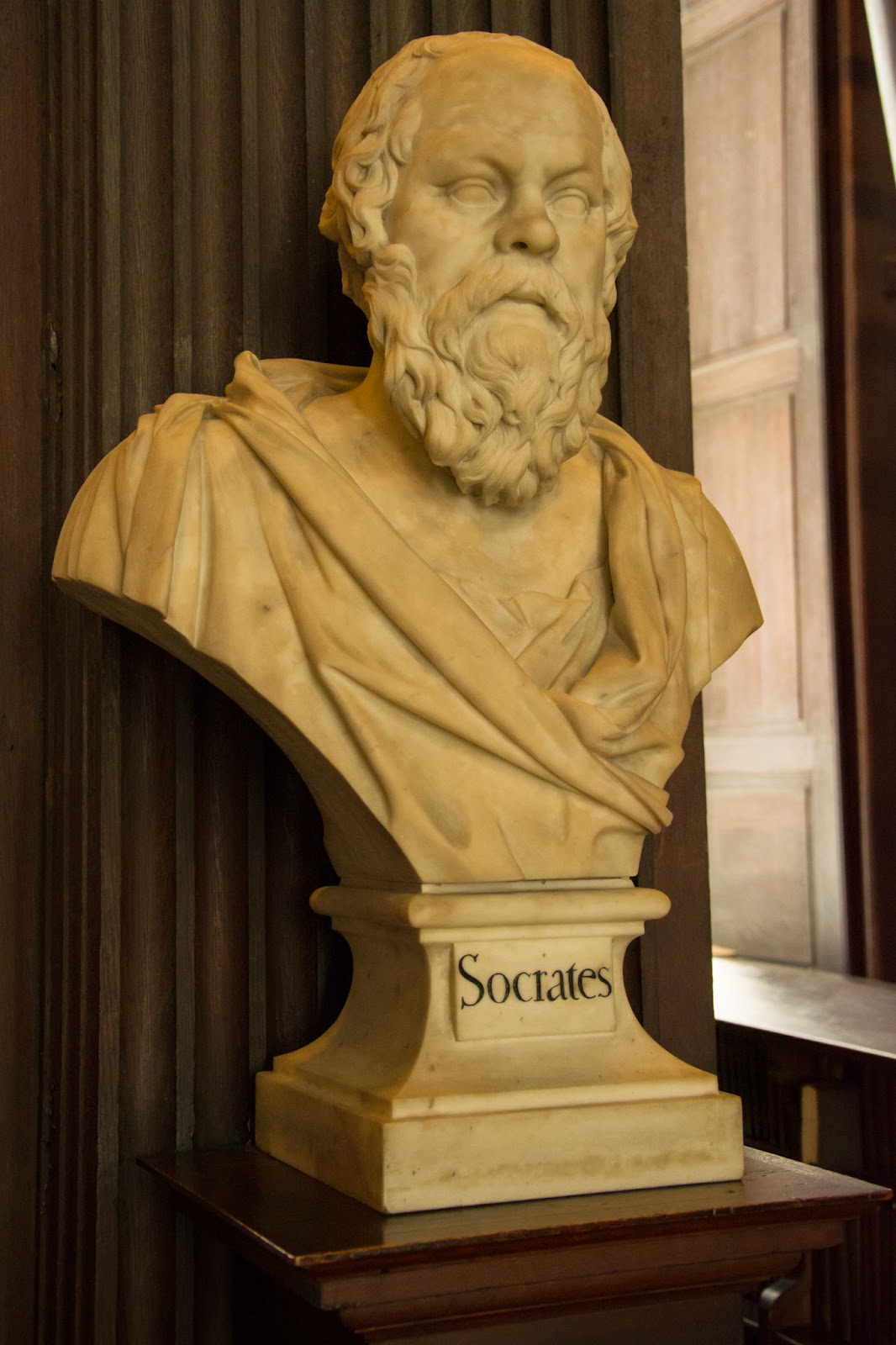 Socrates bust, Trinity College