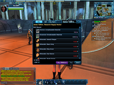 Star Trek Online - Research Supply Vendor