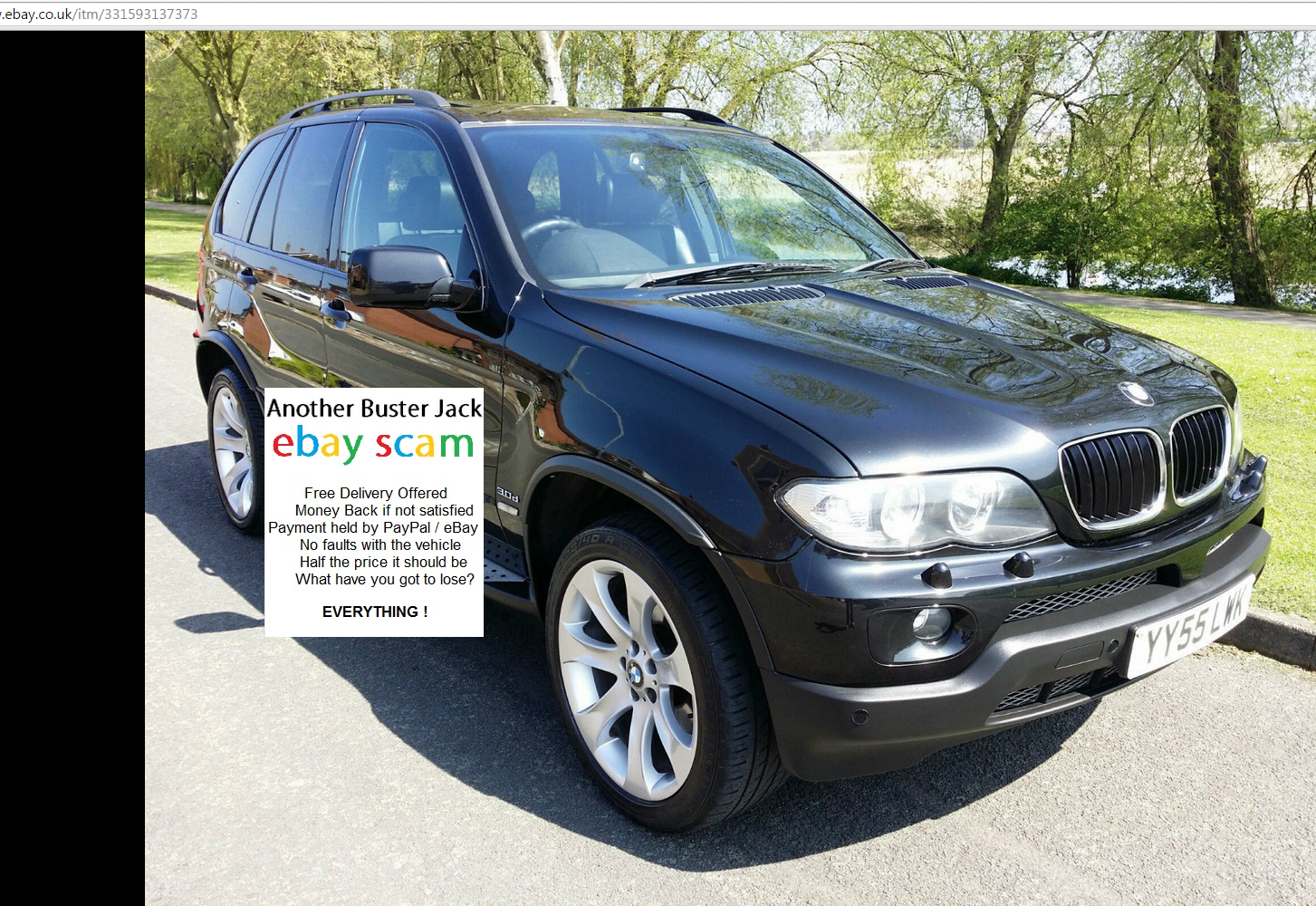 ebay scam 2005 bmw x5 exclusive edition yy55lwk. Black Bedroom Furniture Sets. Home Design Ideas