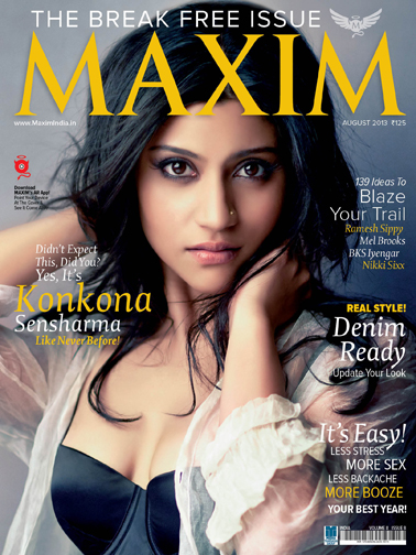 Konkona Sen Sharma hot maxim 2013 cover page