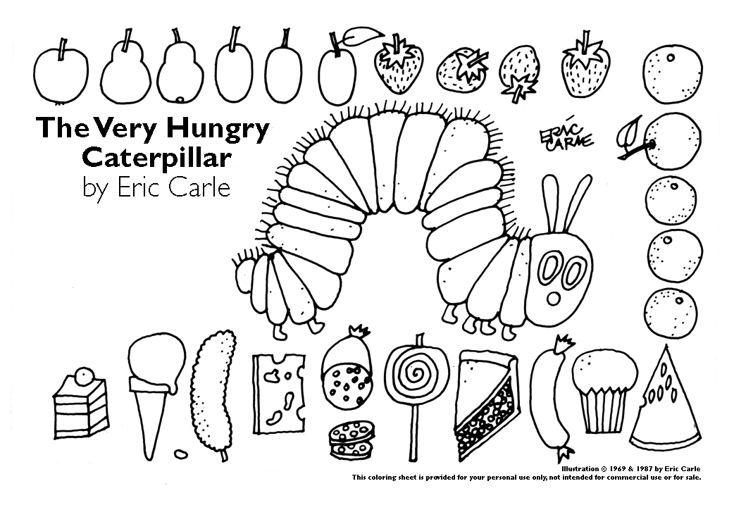 It is a graphic of Versatile The Very Hungry Caterpillar Printable