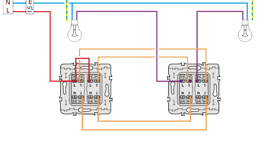 Sch mas lectriques sch ma lectrique double va et vient - Comment faire un va et vient avec 2 interrupteurs ...