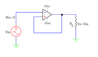 voltage follower using op amp