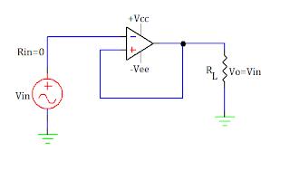 voltage follower using op amp