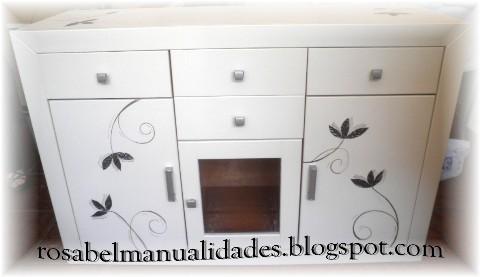 Rosabel manualidades muebles decorados - Manualidades con muebles ...