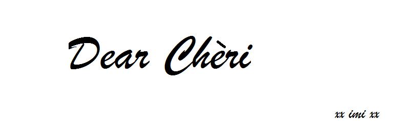 Dear Chéri