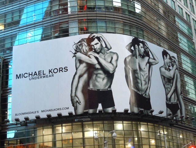 Michael Kors men's underwear billboard