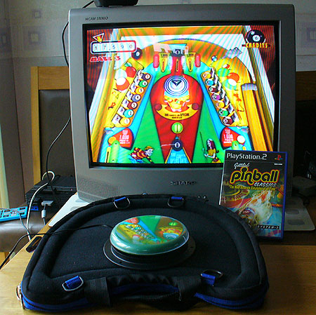 Gottlieb Pinball made one-switch accessible. Equipment used: C-SID interface with DDR box, Able-Net Big-Red switch and Trabasack.