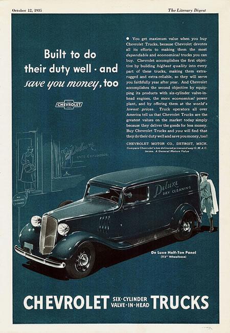 1947  1955 Chevrolet Pickup y panel   History 1947  1955 Chevrolet