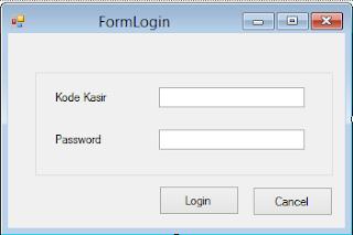 Cara Membuat Form Login Aplikasi Kasir VB NET 2013