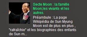 Secte Moon : la famille Moon,les vivants et les autres.