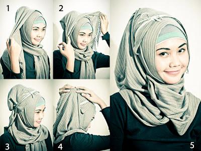 Gambar+cara+memakai+jilbab+kreasi+modern Busana Muslimah yang Trendy