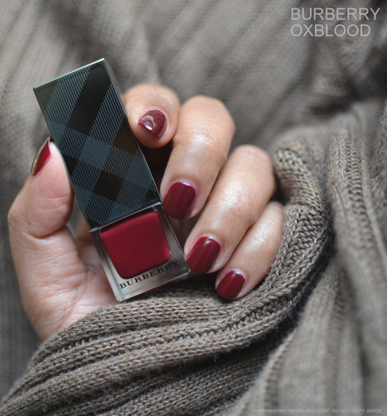 Burberry Nail Polish Oxblood No. 303 - Photos, Swatches, Review, NOTD