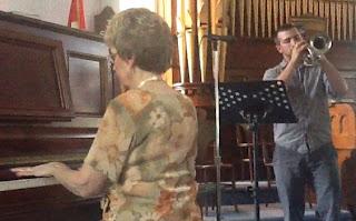 Image Scott Baxter trumpet Shirley Robertson piano