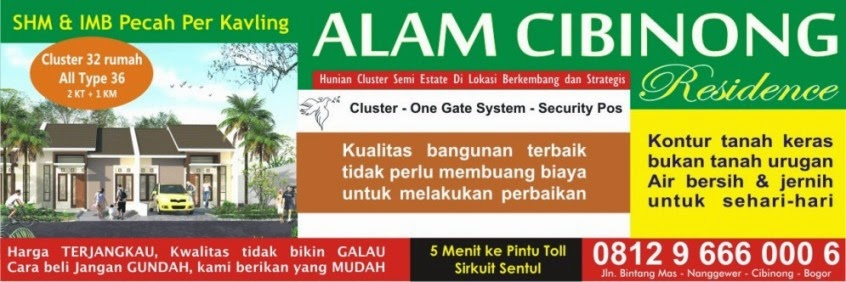 perumahan cluster alam cibinong residence
