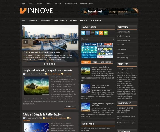 Innove Blogger Template