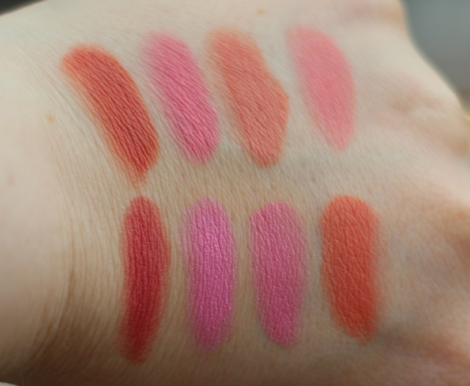 All about cream blusher palette swatches