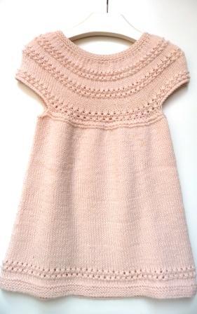 vestito bimba rosa top down