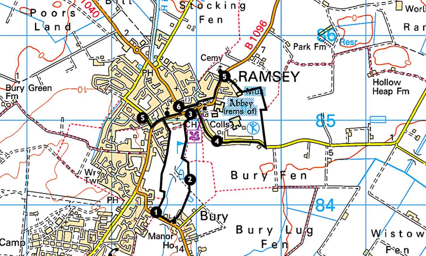 Cambridgeshire walks Ramsey to Bury