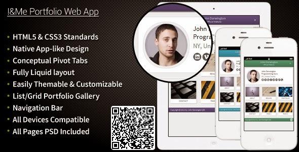 I Me Portfolio Web App (ThemeForest November Free File)