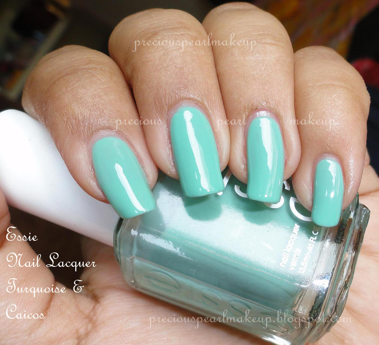preciouspearlmakeup: Essie Nail Lacquer Turquoise and Caicos