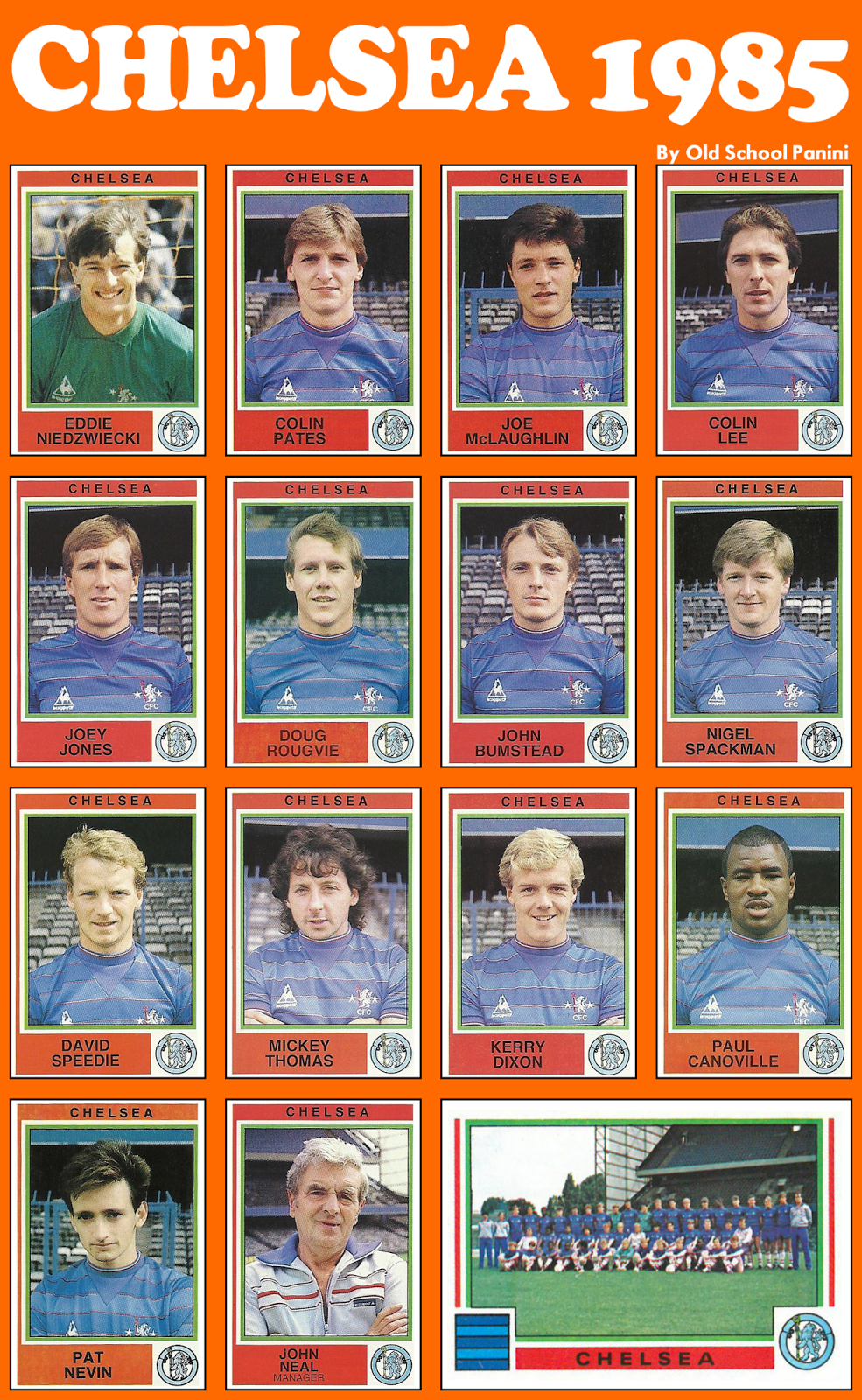 A combien nous arrêterons-nous ? - Page 2 CHESEA+FC+Panini+1985+All+the+stickers