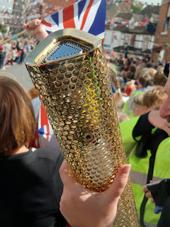 An Olympic torch in Alcester