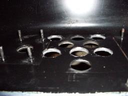 Bordes de los agujeros ya pulidos