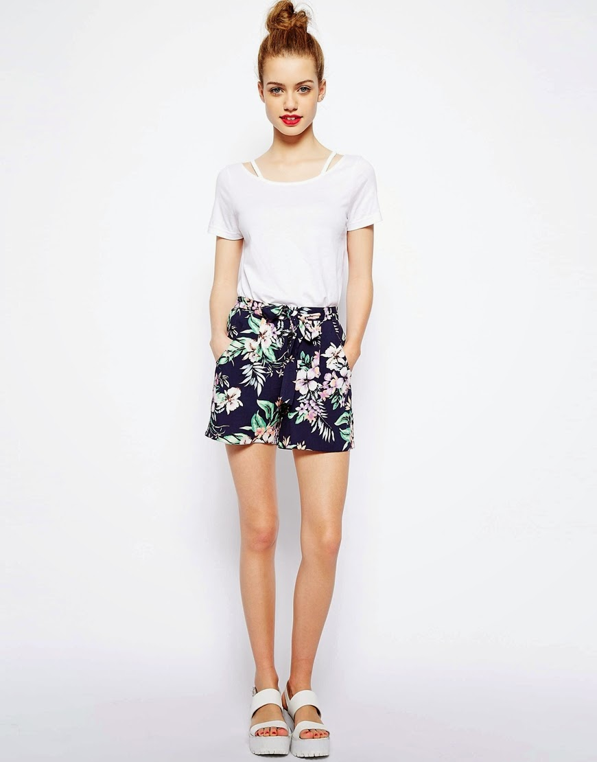 tropical shorts ladies