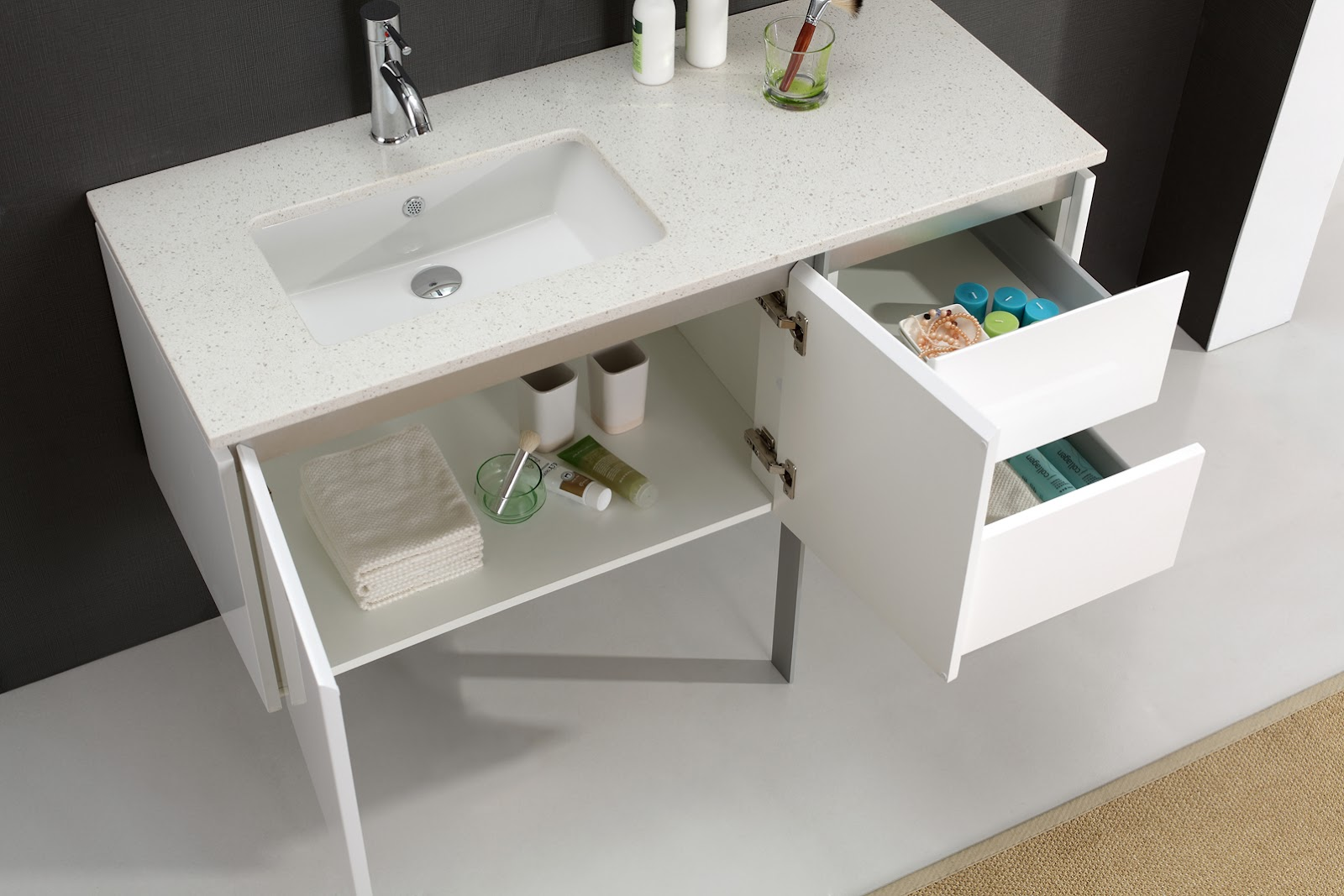 Merida 1200mm Luxury White Vanity For Modern Bathrooms White Bathroom Vanities
