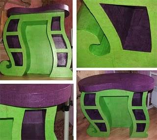 A poner manos a la obra mas muebles de carton for Carton para muebles
