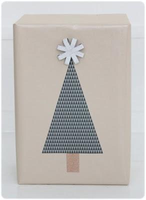 DIY ideas envolver regalos árbol de Navidad