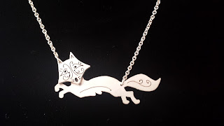 Sterling Fox Necklace